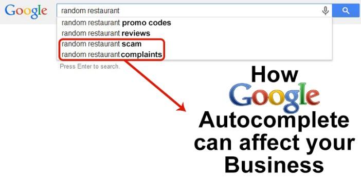 Google Autocomplete Repair